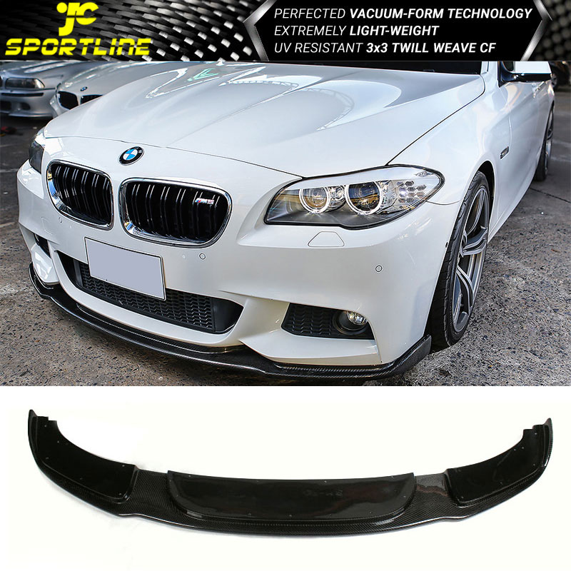 details about fits 11 16 bmw 5 series f10 m sport hm style front bumper lip carbon fiber cf widebody e39 body kit gt s duraflex body kit wing spoiler