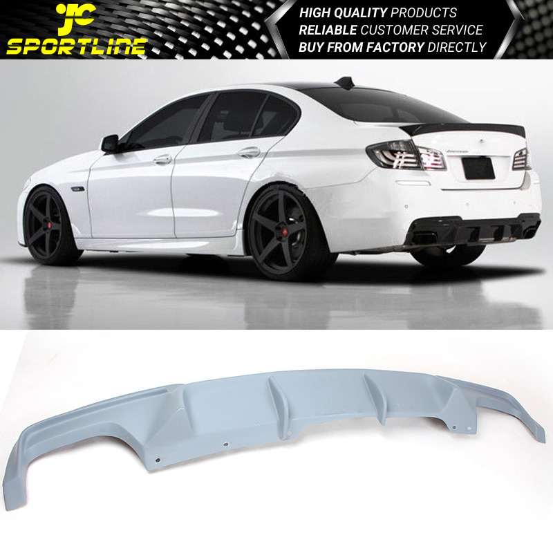 Fits 11-16 BMW 5 Series F10 M-Tech M-Sport Rear Diffuser V Style Gray Primer