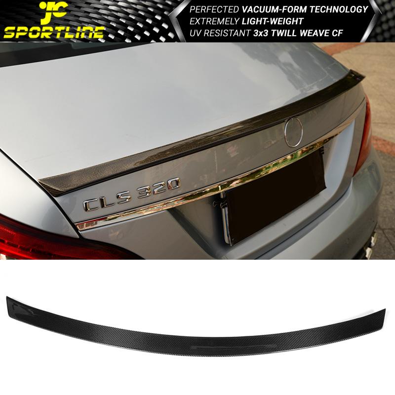 Fits 11-17 Benz CLS Class W218 Sedan 4-Door Trunk Spoiler CF Carbon Fiber