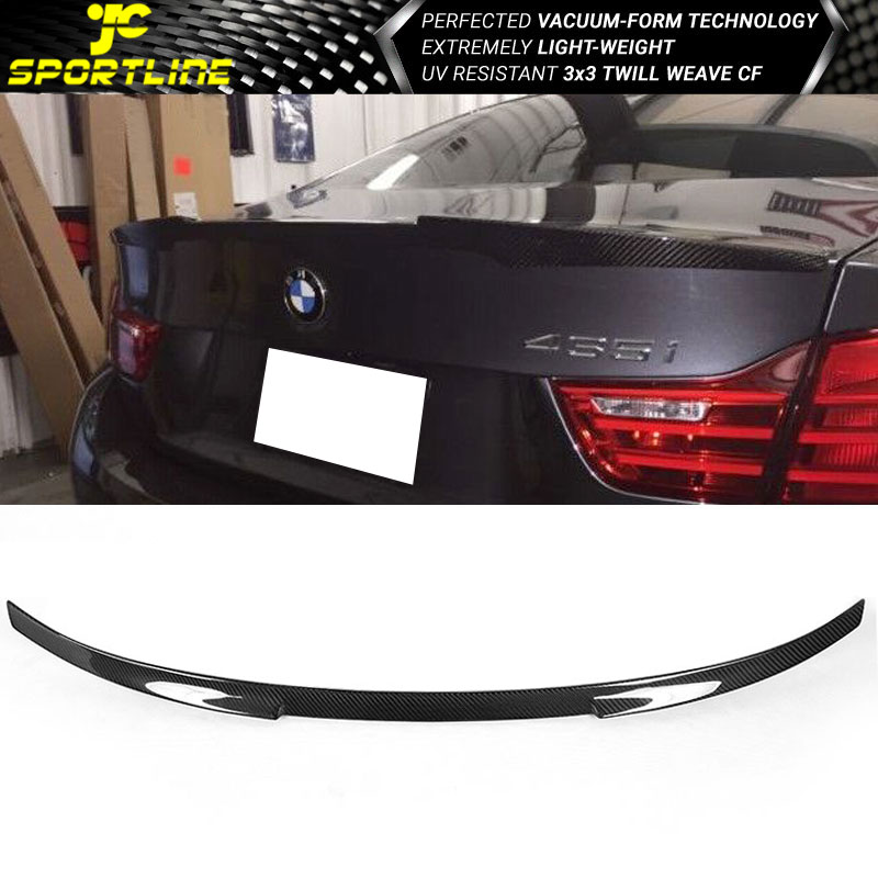 M4 Carbon Fiber V Style Rear Trunk Lid Spoiler Wing Fits For BMW 4 Series F32