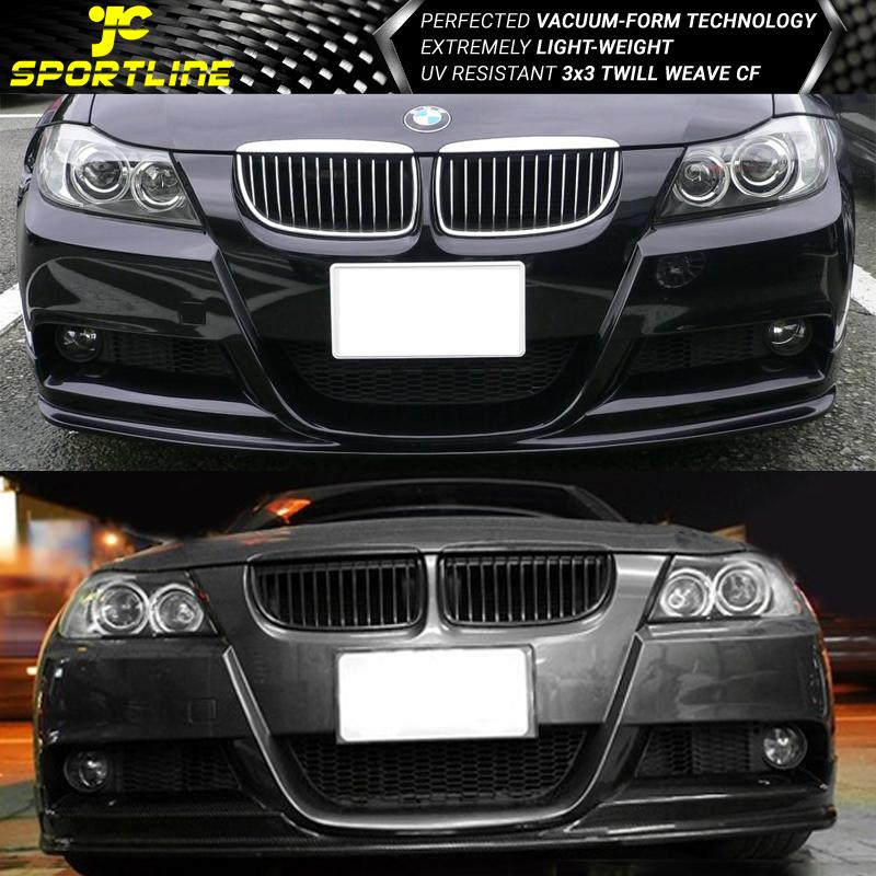 da9e7d01ff53 FITS 05-08 BMW 3-Series E90 Pre-LCI Mtec M-Sport Front Bumper Lip 3D ...