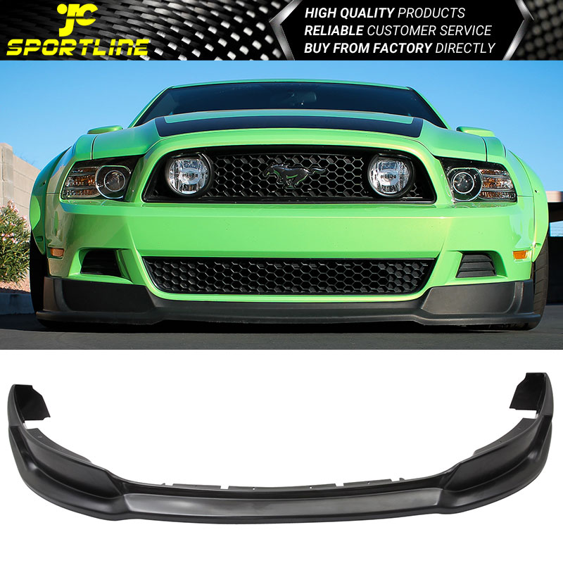 2013 Mustang Front Bumper >> Details About Fits 2013 2014 Ford Mustang V8 V6 Gt Front Bumper Lip Spoiler Pu