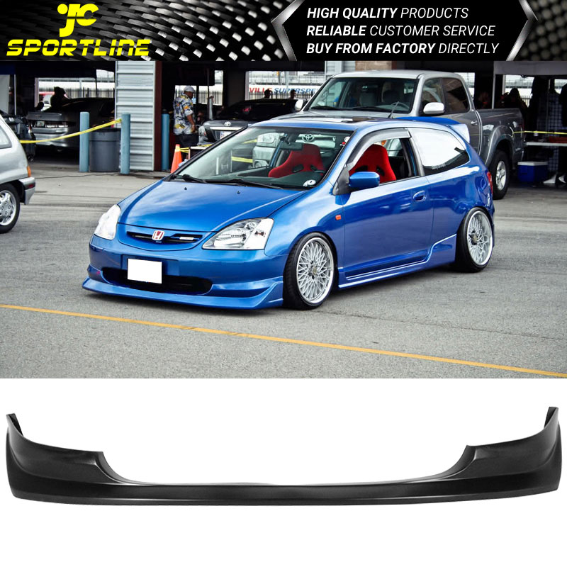Fits 2003 2005 Honda Civic Si 3dr Hatchback Aw Style Pu Front Bumper