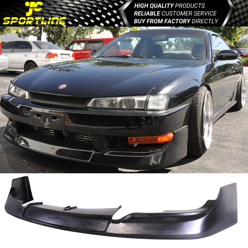 Fits 97 98 Nissan 240sx S14 Kouki Gr Type Black Pu Front Bumper Lip