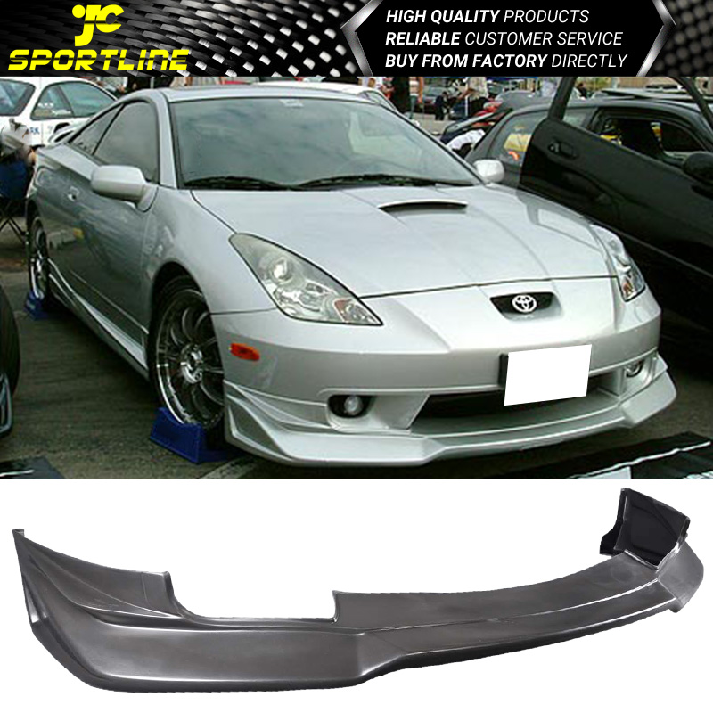 Fits 00-02 Toyota Celica JDM Style Front Bumper Lip PU Poly Urethane