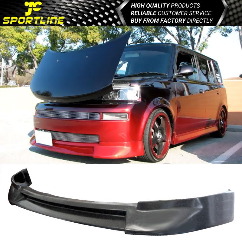 Fits 03 07 Scion Xb Jdm Black Pu Front Bumper Lip Bodykit Spoiler