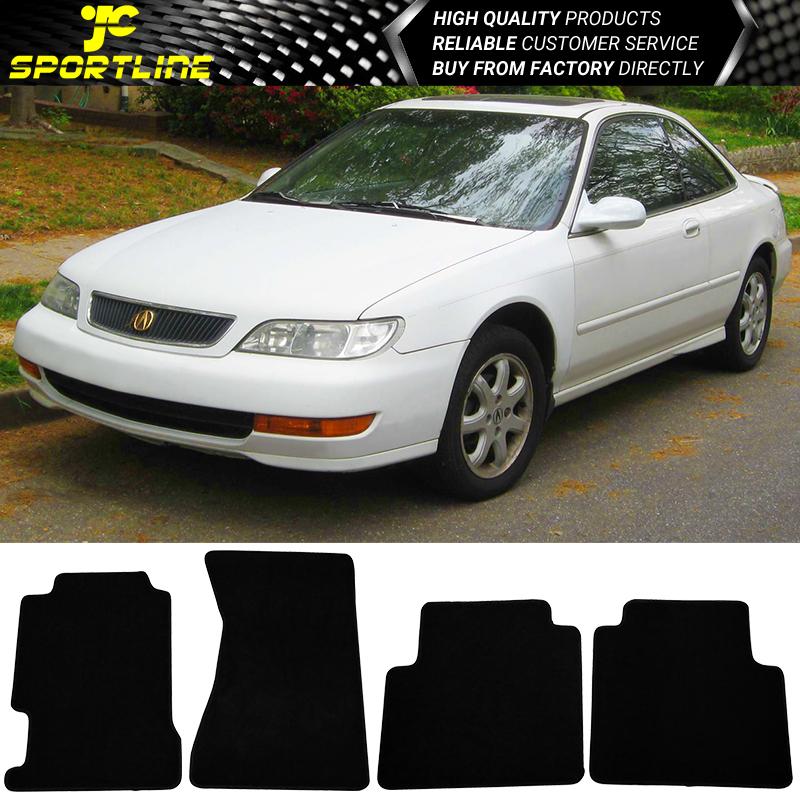 Fits 96-98 Acura TL 4Dr Black Nylon Front Rear Car Floor