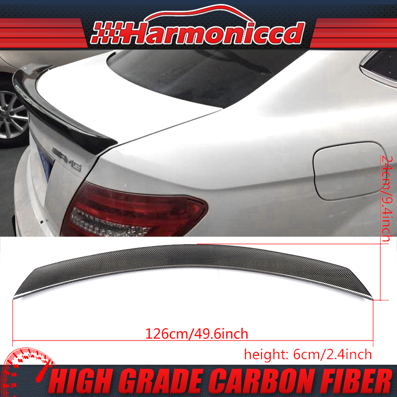 ABS Fits 08-14 Benz C-Class W204 4-Door Sedan V Style Trunk Spoiler Wing