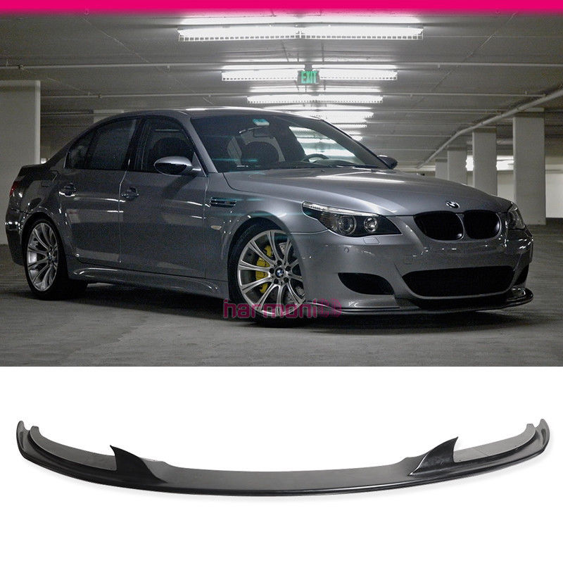 fits 06 07 08 09 10 bmw e60 m5 h style pu front bumper lip. Black Bedroom Furniture Sets. Home Design Ideas