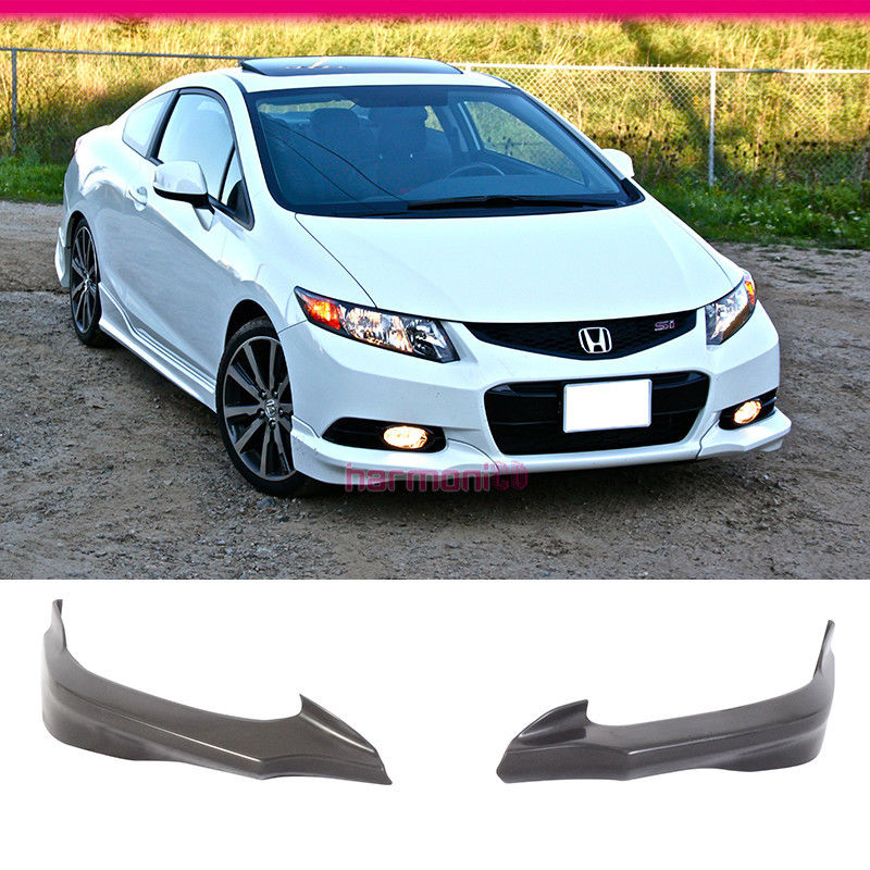 Fits 12-13 Honda Civic 9th 2Dr Coupe MD Style PU Front Bumper Lip Bodykit