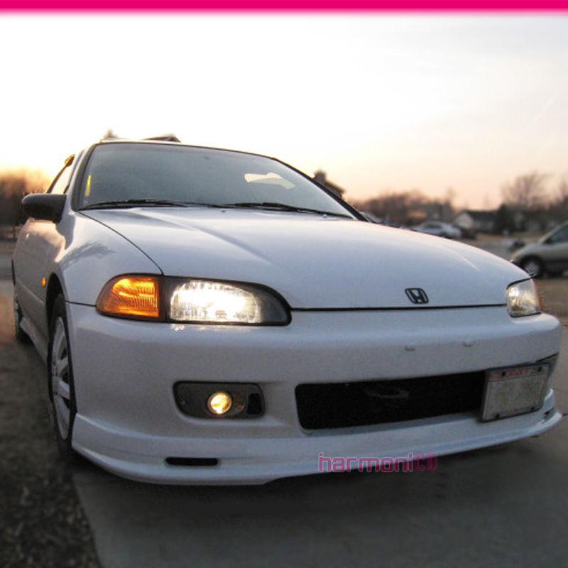 Fits 92 95 Honda Civic EG Hatchback Coupe Mug Style Front Bumper Lip  Spoiler PU 842961146539 | EBay