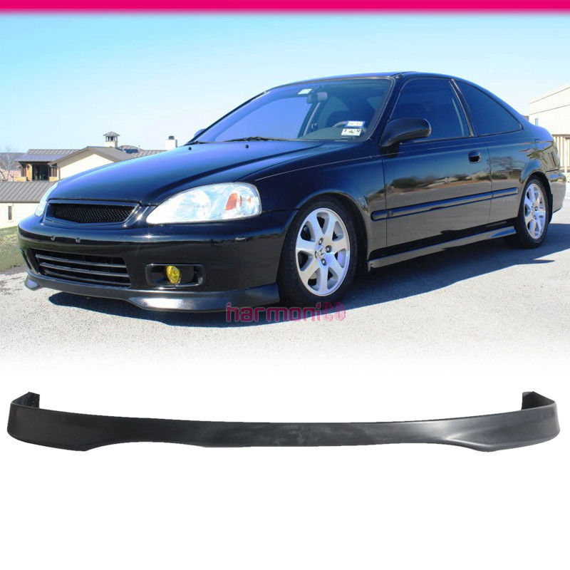 fits 1999 2000 honda civic front bumper lip spoiler tr. Black Bedroom Furniture Sets. Home Design Ideas