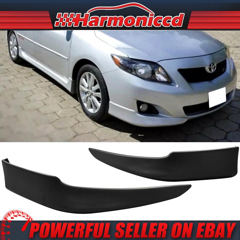 Fit 09-10 Corolla OE Style PP Polypropylene Front Bumper Lip Spoiler Splitter