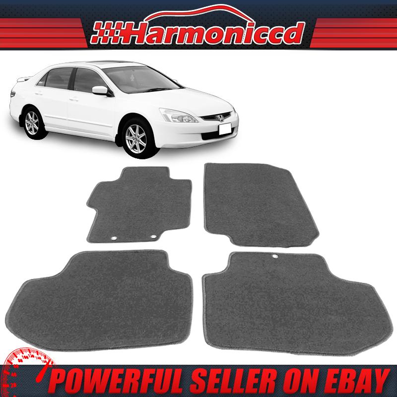 Honda Accord SEDAN 4PC Custom Fit Carpet Floor Mat Set 08-12 Black Gray Beige