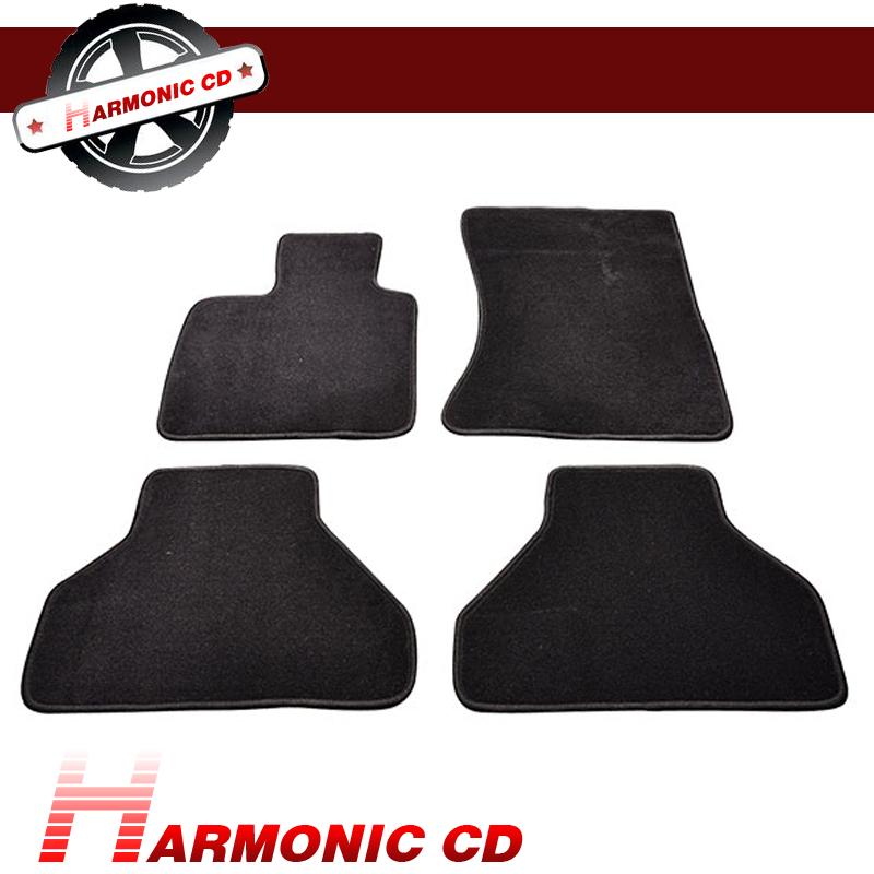 Fit 10-12 Dodge Challenger Floor Mats Front /& Rear Black Nylon 4PC Carpets