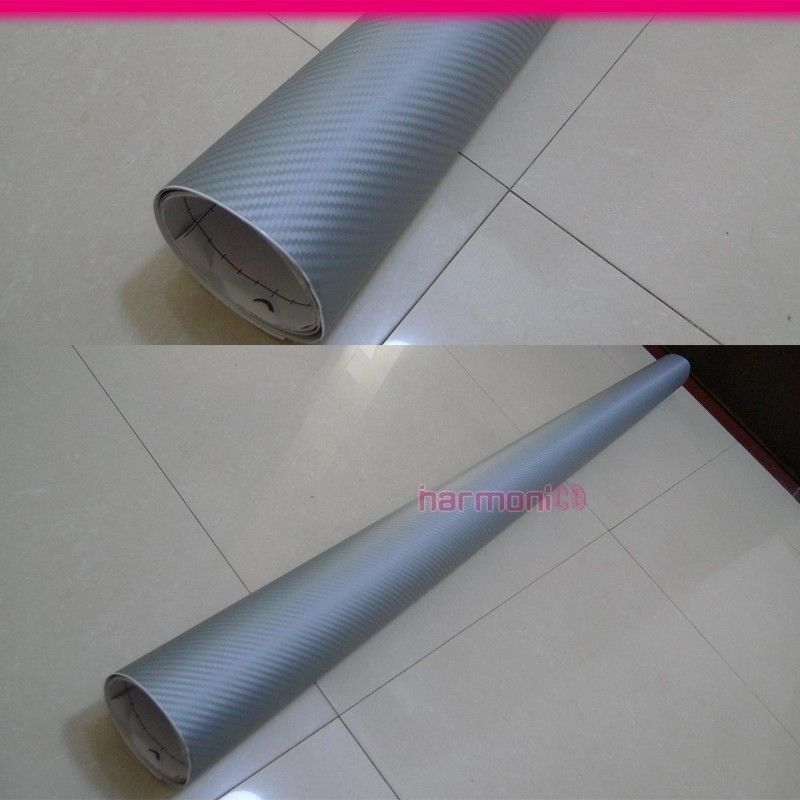Details about Fit Mitsubishi 60x59 Inch Carbon Fiber Sliver Look Vinyl  Sheet Film Sticker Wrap