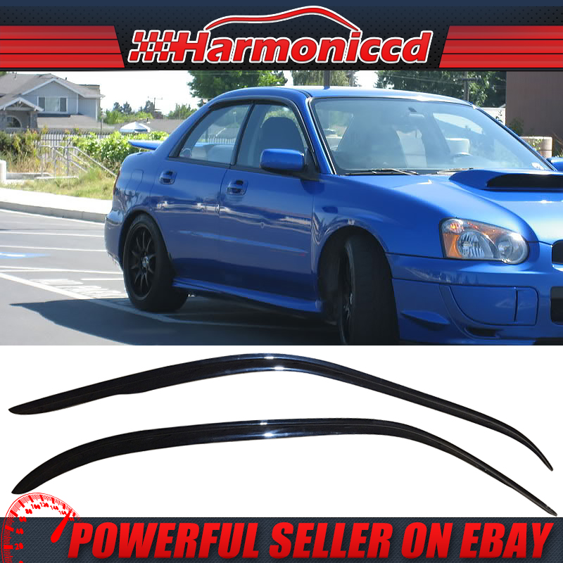 For 02-07 Subaru Impreza WRX STI Smoke Acrylic Rear Window Roof Visor Spoiler