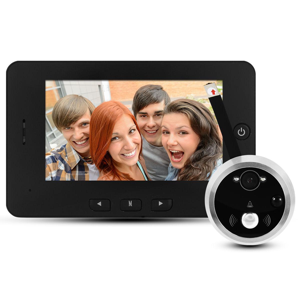 4 3 lcd hd sicherheit digitaler t rspion door kamera t rkamera berwachung th212 ebay. Black Bedroom Furniture Sets. Home Design Ideas