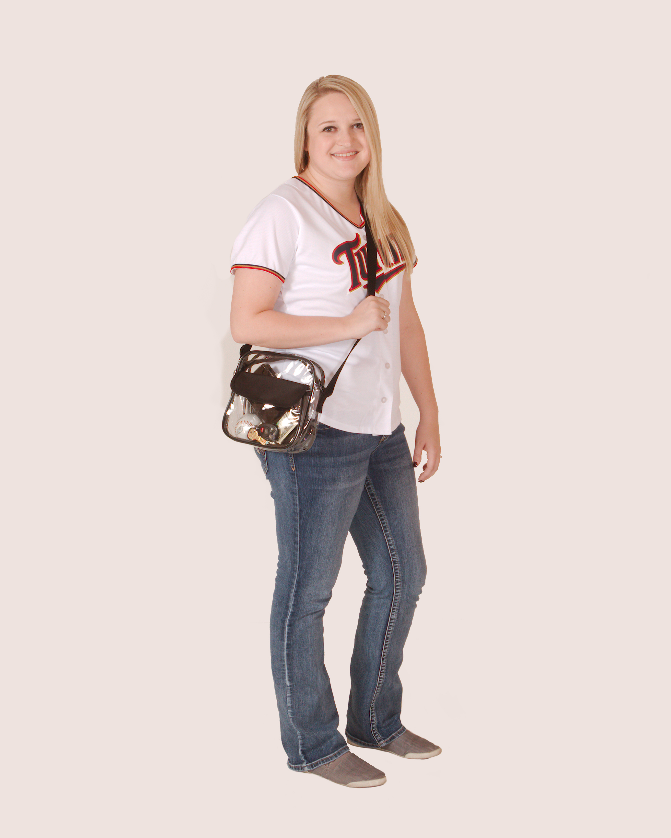 Clear-Purse-NFL-Stadium-Approved-Bag-with-Zipper-and-Shoulder-Strap thumbnail 33