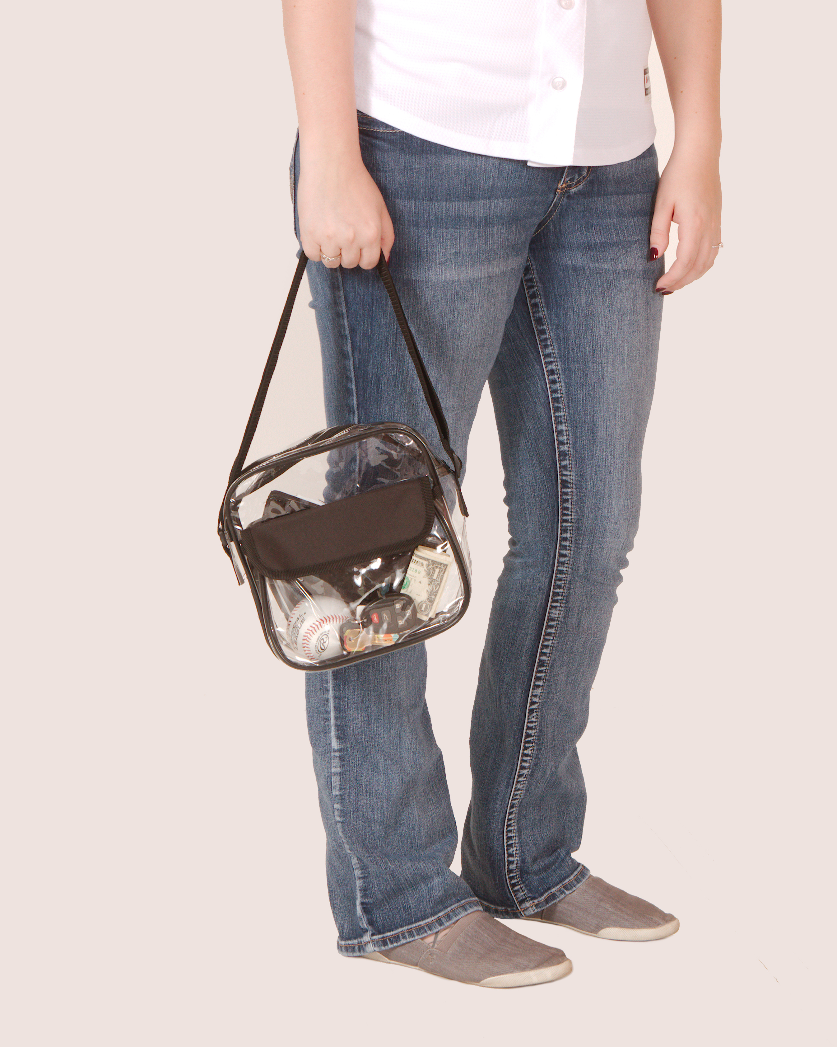 Clear-Purse-NFL-Stadium-Approved-Bag-with-Zipper-and-Shoulder-Strap thumbnail 32