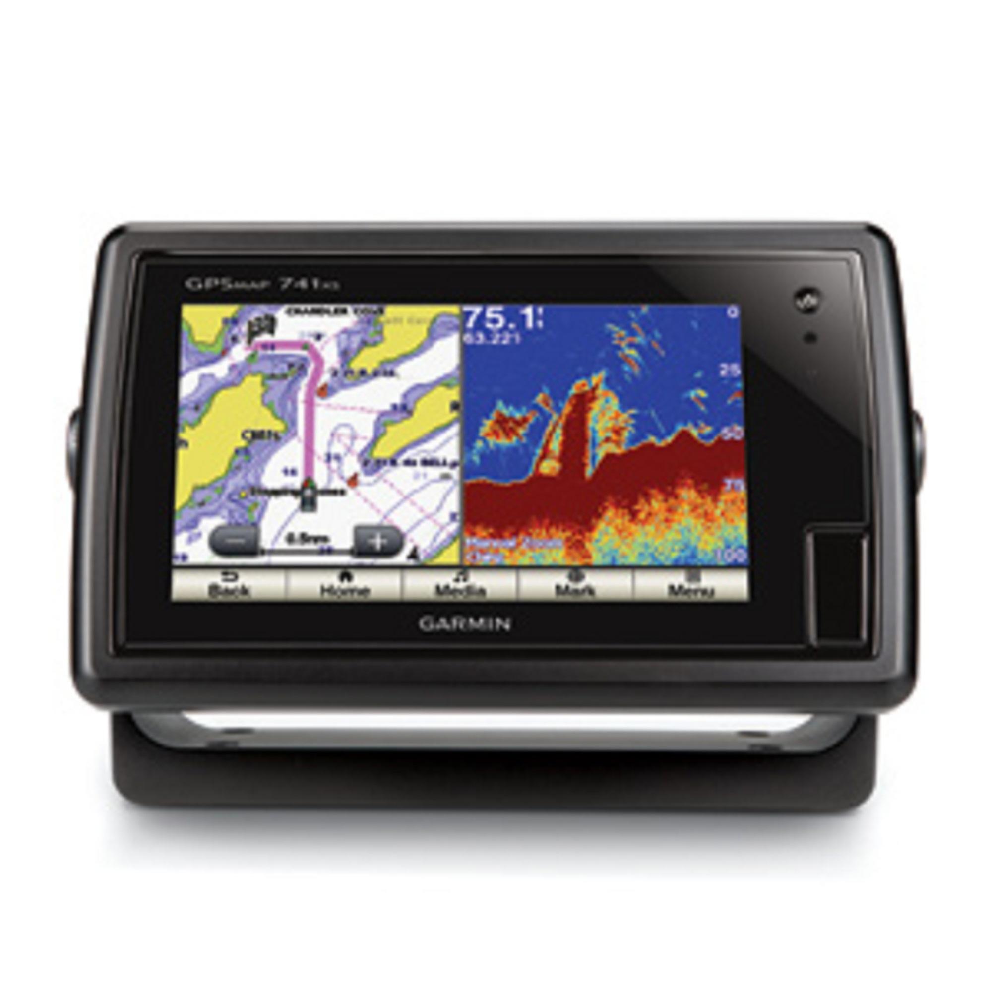 Garmin gpsmap 741xs chartplotter sonar touchscreen combo for Academy fish finder