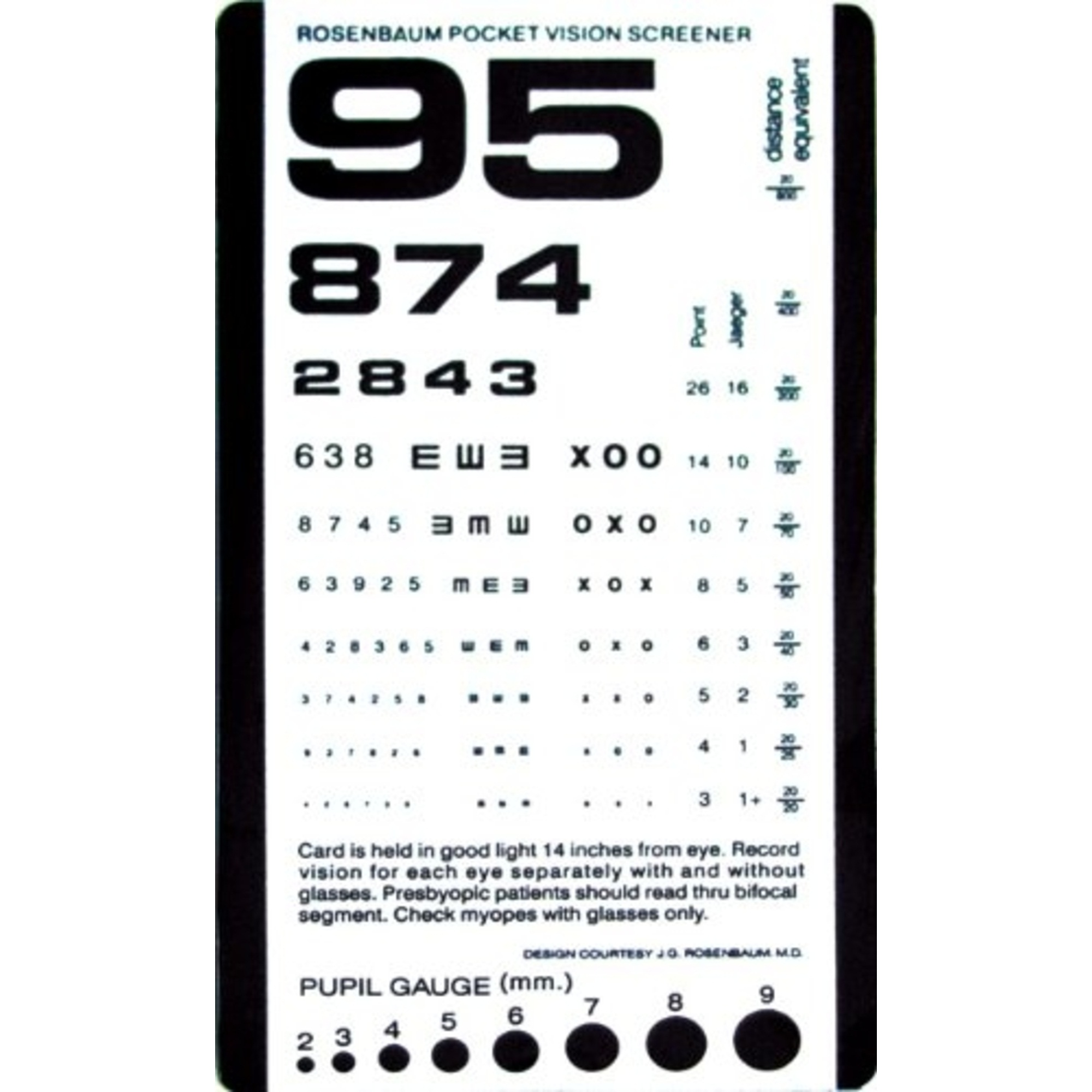 Pocket size plastic eye chart vision screener 628586197602 ebay pocket size plastic eye chart vision screener geenschuldenfo Images