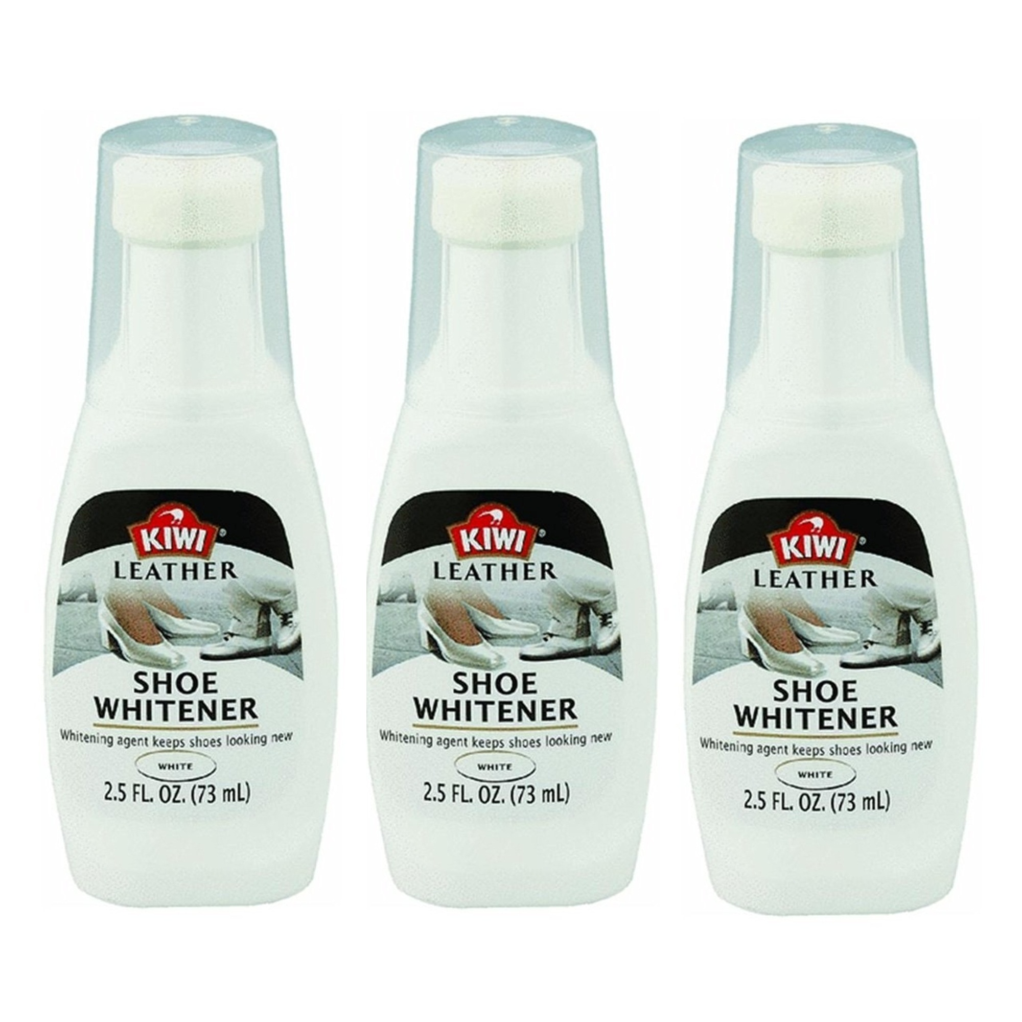 kiwi leather shoe whitener white 2 5 oz pack of 3 ebay