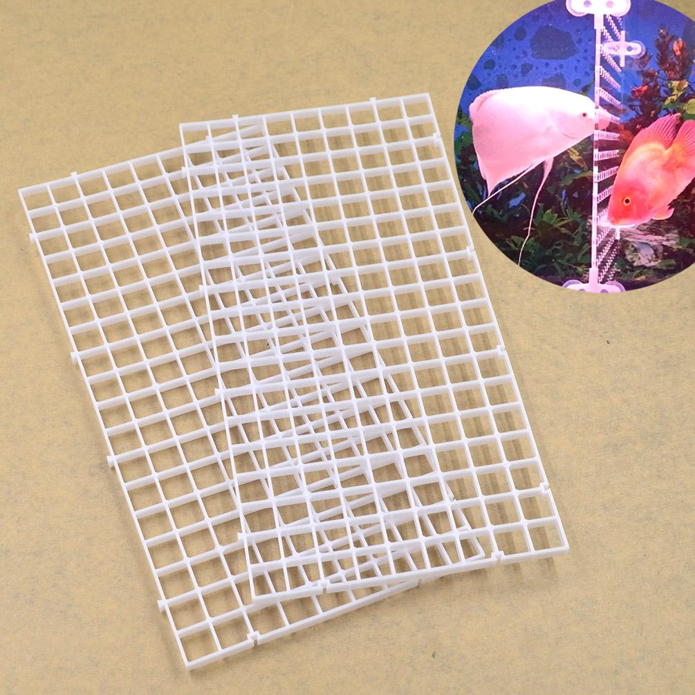 DIY Deko Wohnung Netz Aquarium Unterlage Fische Insolation Platte Filter  Weiß