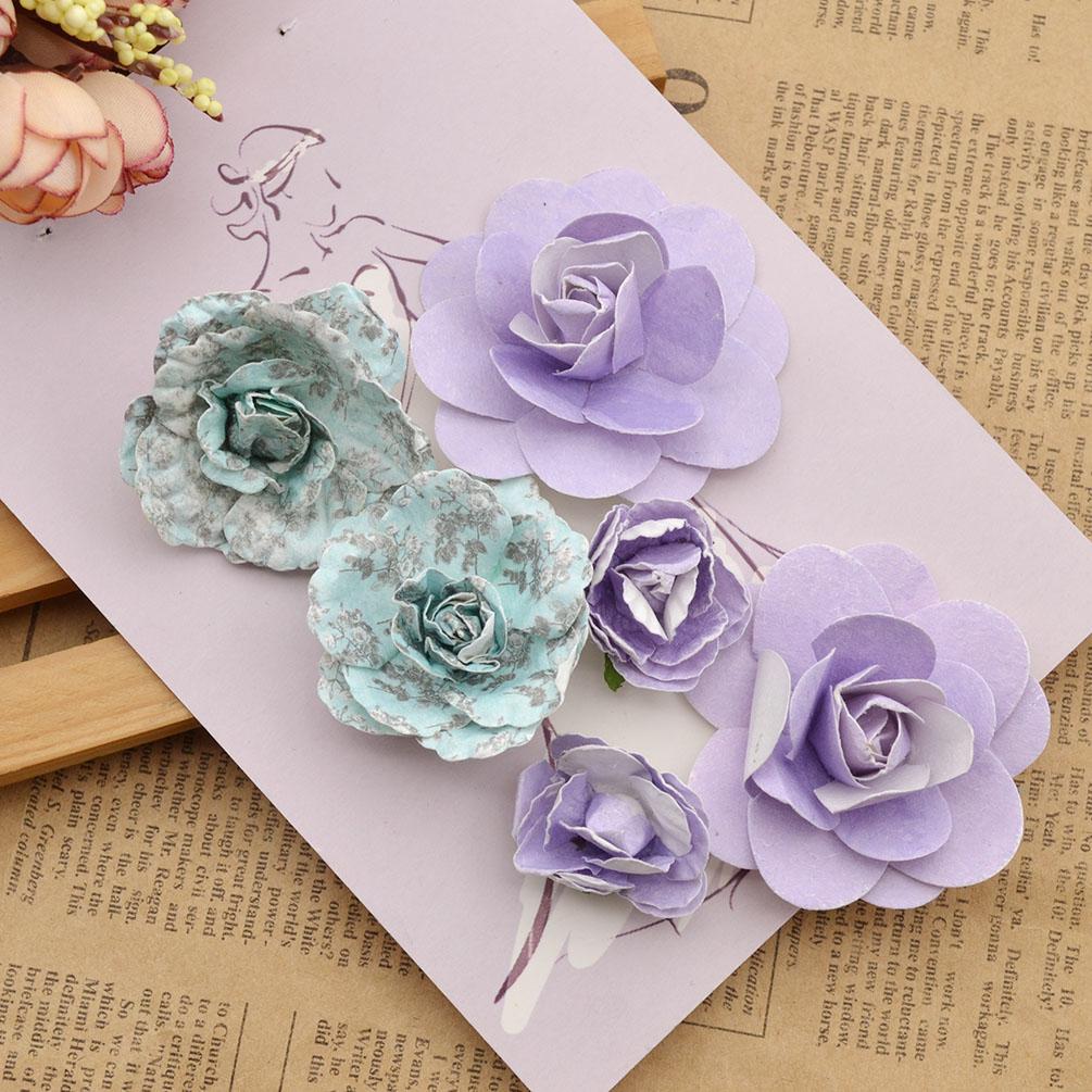 DIY 3D Sticker Aufkleder Papier Blume Basteln Scrapbooking ...