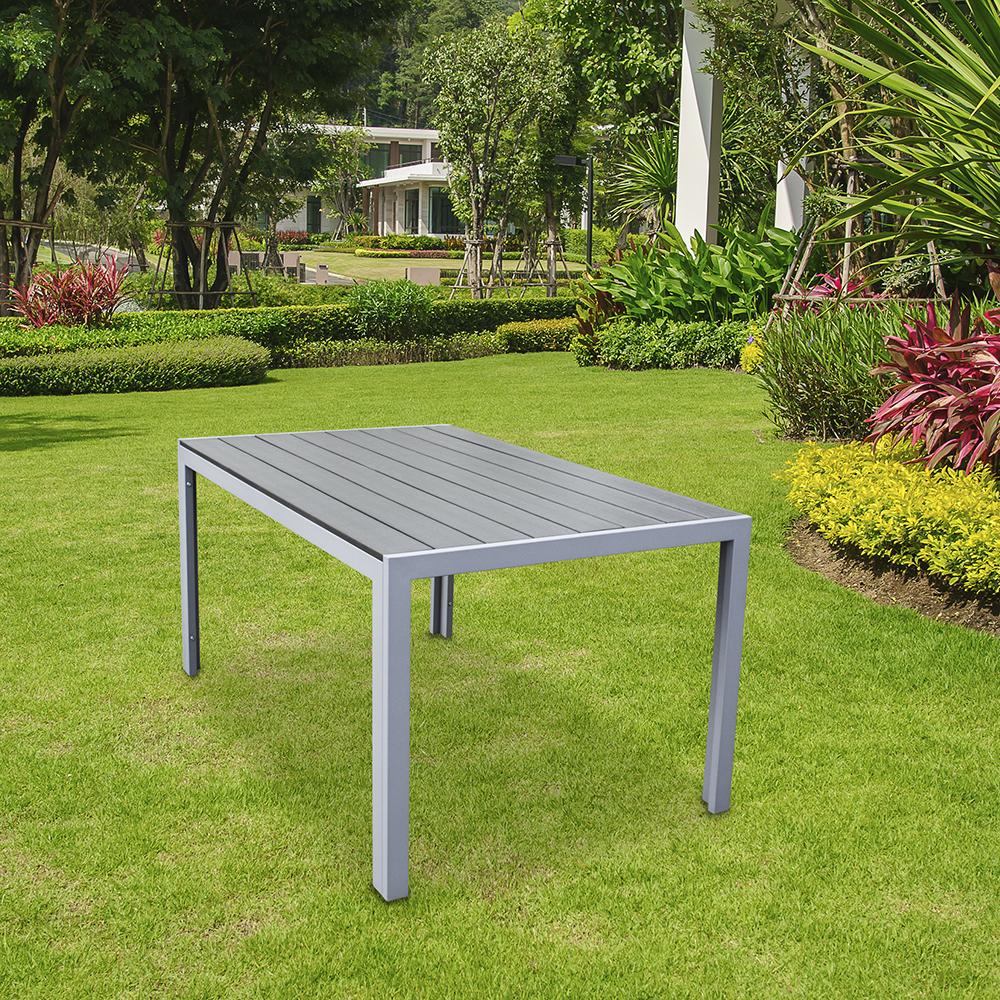Polywood Outdoor Dining Table Durable Garden Furniture Aluminium