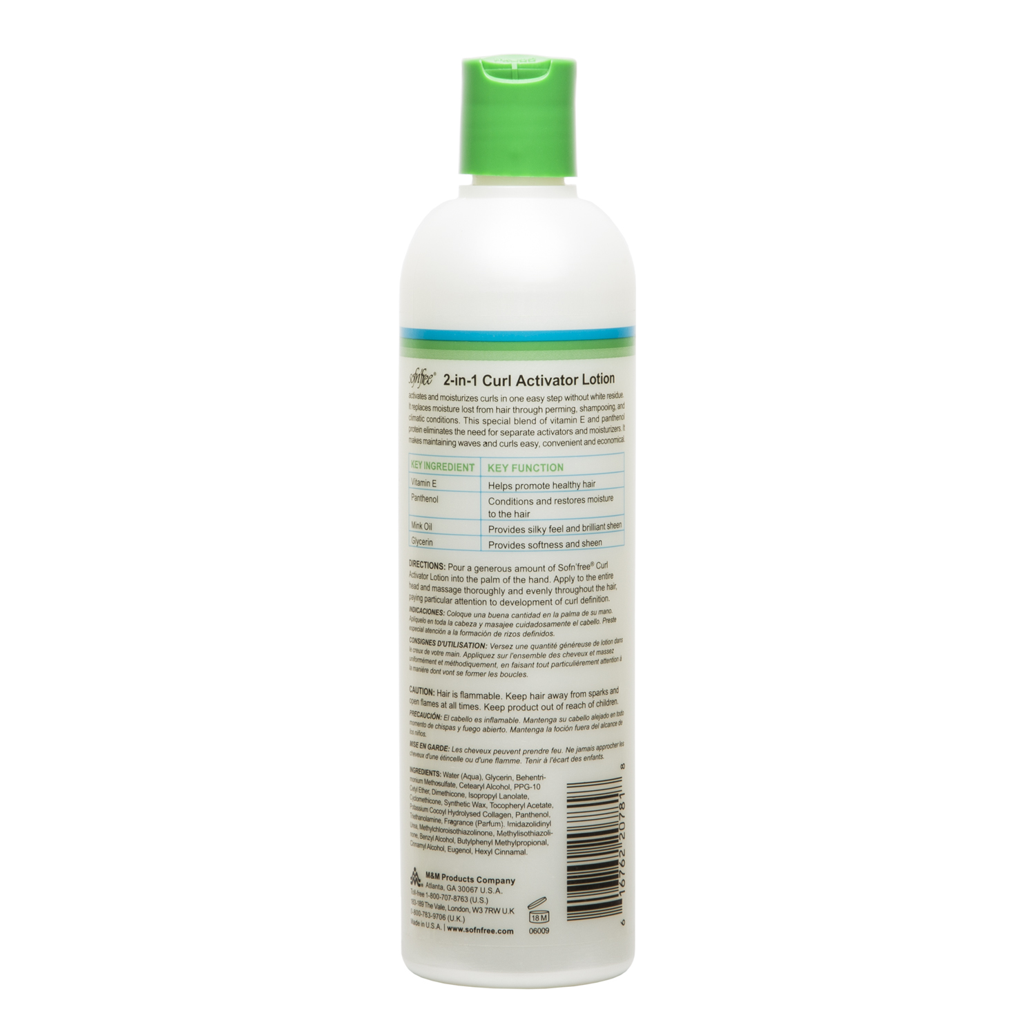 53844c33130 Details about Sofn'Free Healthy Hair 2 In 1 Curl Activator Moisturizing  Lotion 12 oz Pk of 2