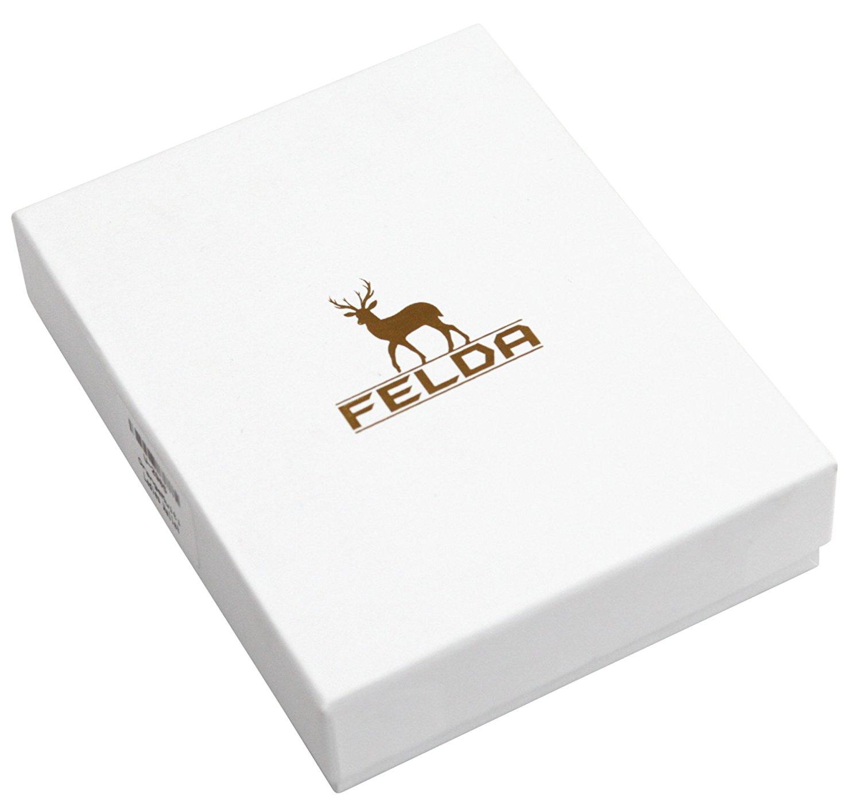 Felda-RFID-onorevoli-MEDAGLIA-amp-Card-Purse-Wallet-Genuine-Leather-Multi-SOFT-BOX-REGALO miniatura 22