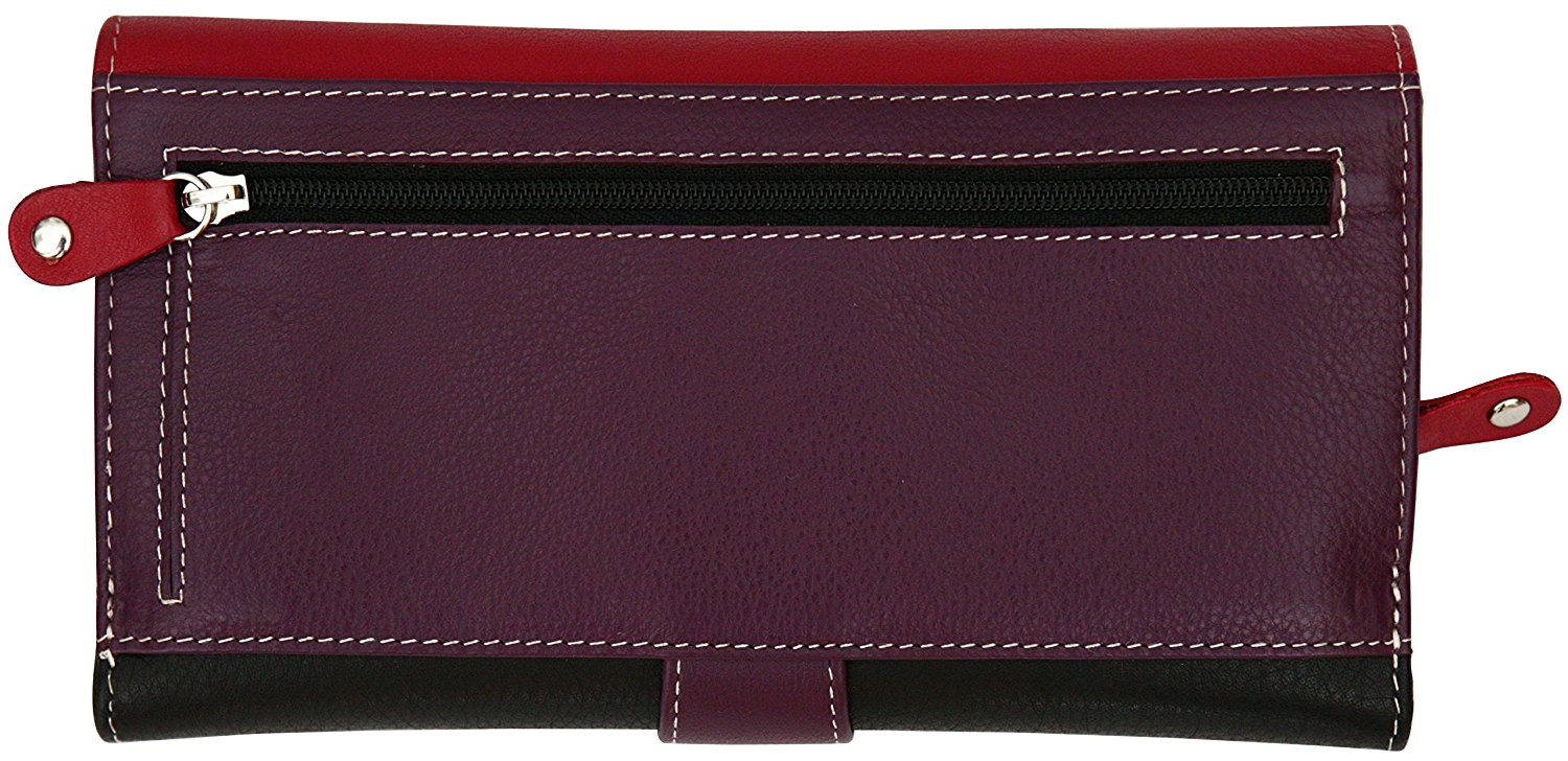 Felda-RFID-Ladies-Leather-Soft-Wallet-Large-Capacity-Purse-Womens-Multi-24-Card miniatuur 58