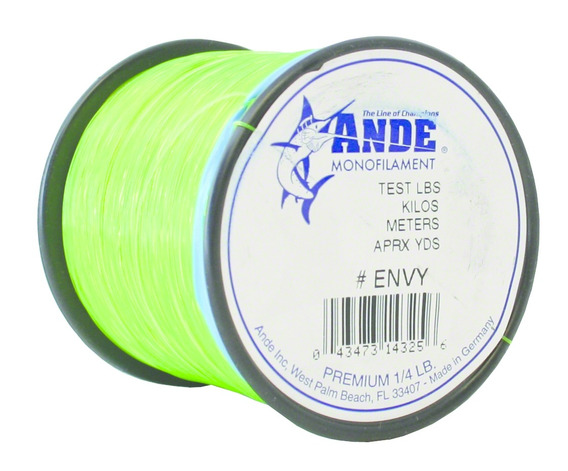 Envy Green, 20 -Pounds Test, 1//4# Spool Ande Monofilament Line