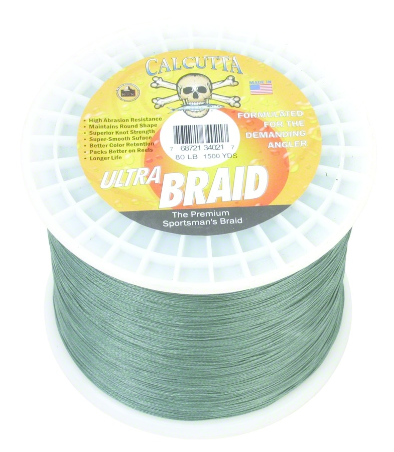 Calcutta UB-80-G-1500 Ultra Braid Fishing Line 80Lb Green 1500Yds