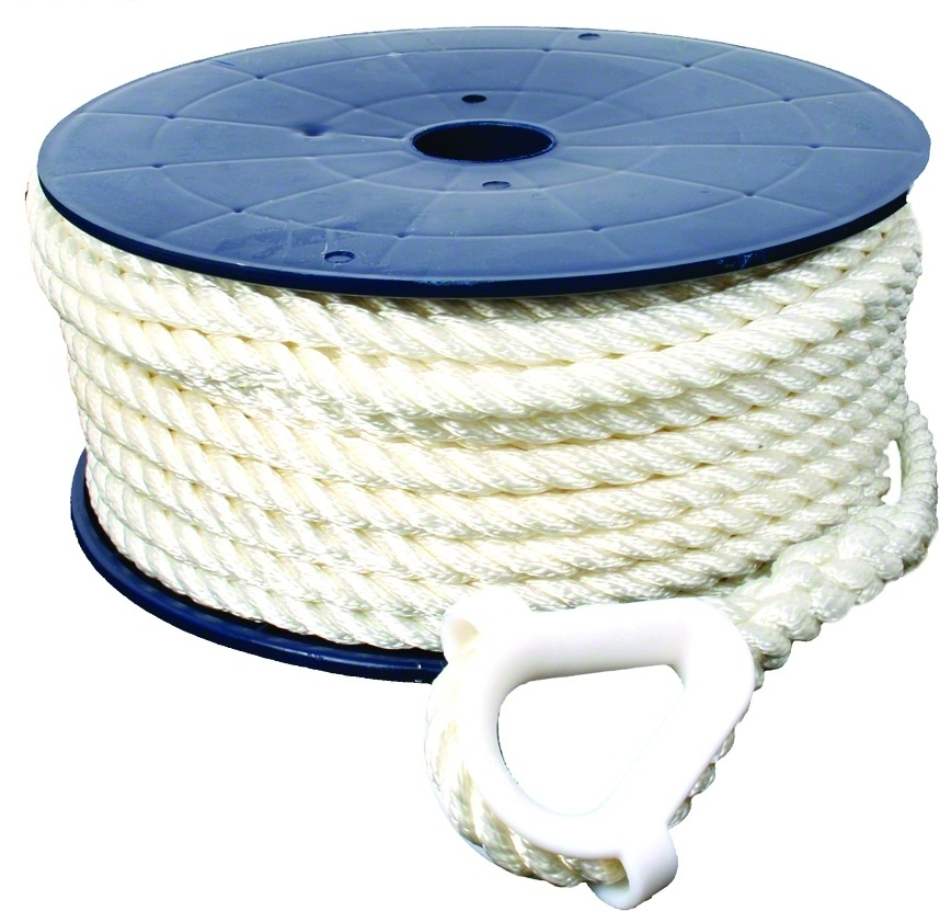 Invincible Marine BR52710 Anchor Line 3 8 x150' 3-Strand Twisted