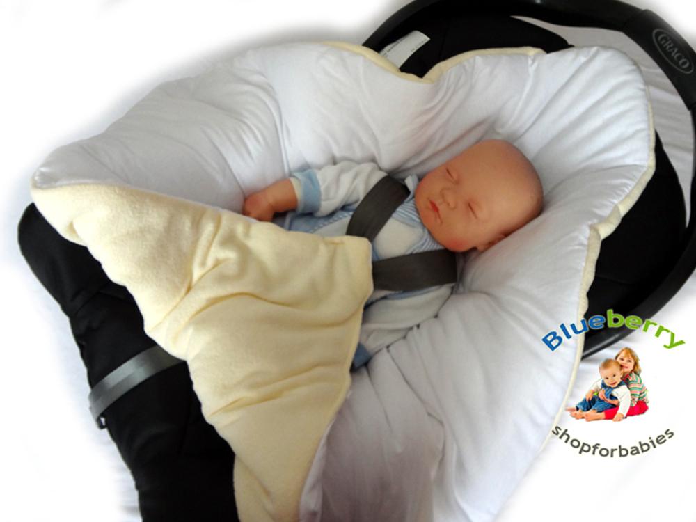 BlueberryShop Cosy Fleece For CAR SEAT Swaddle Wrap