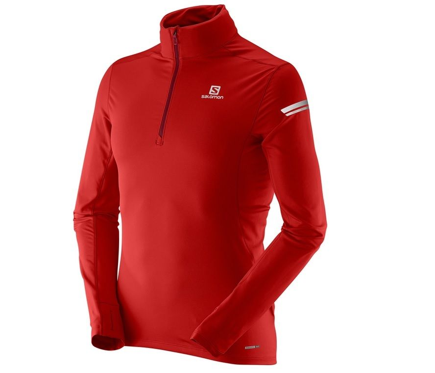 Salomon Agile Half Zip Shirt Mens | eBay