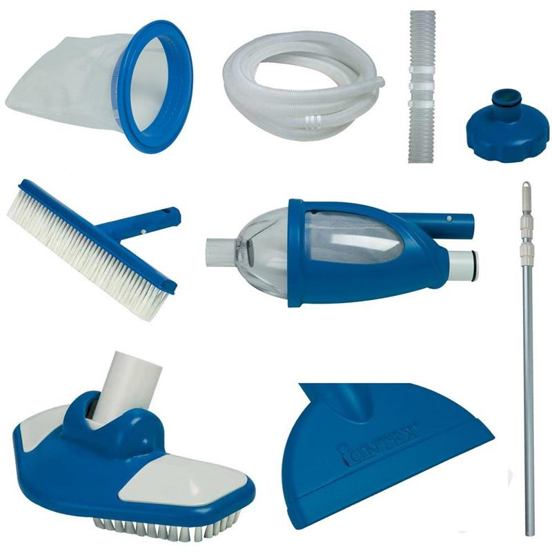 Details about Intex Deluxe Cleaning Maintenance Swimming Pool Kit with  Vacuum & Pole 28003E