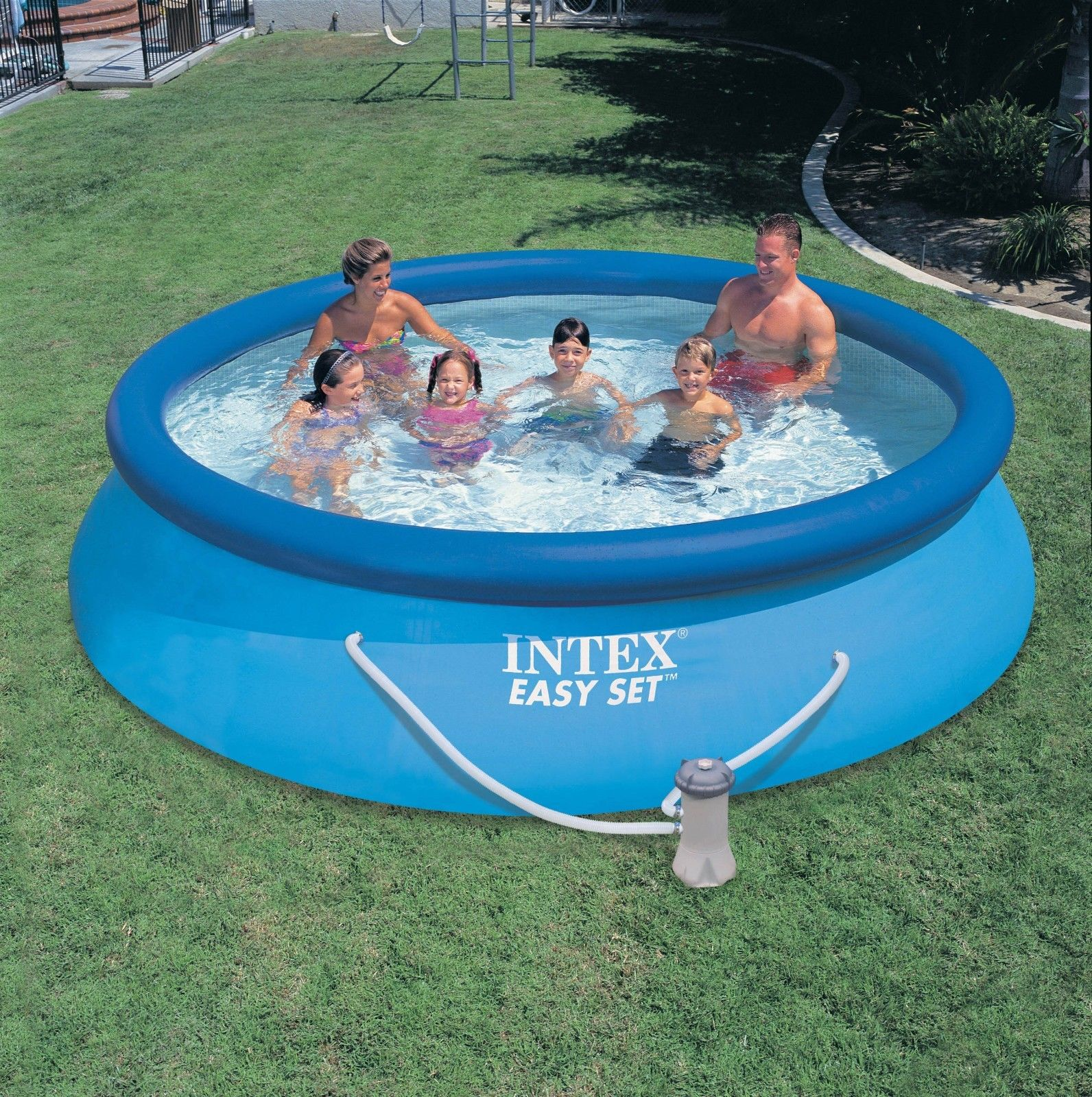 intex 12 x 30 easy set above ground swimming pool filter pump 28131eh
