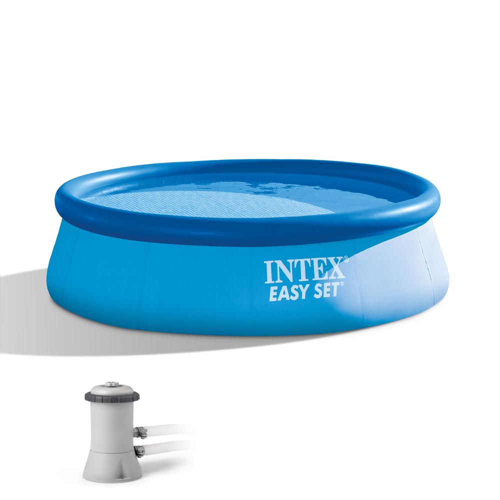 intex 12 39 x 30 easy set above ground swimming pool filter pump 28131eh ebay. Black Bedroom Furniture Sets. Home Design Ideas