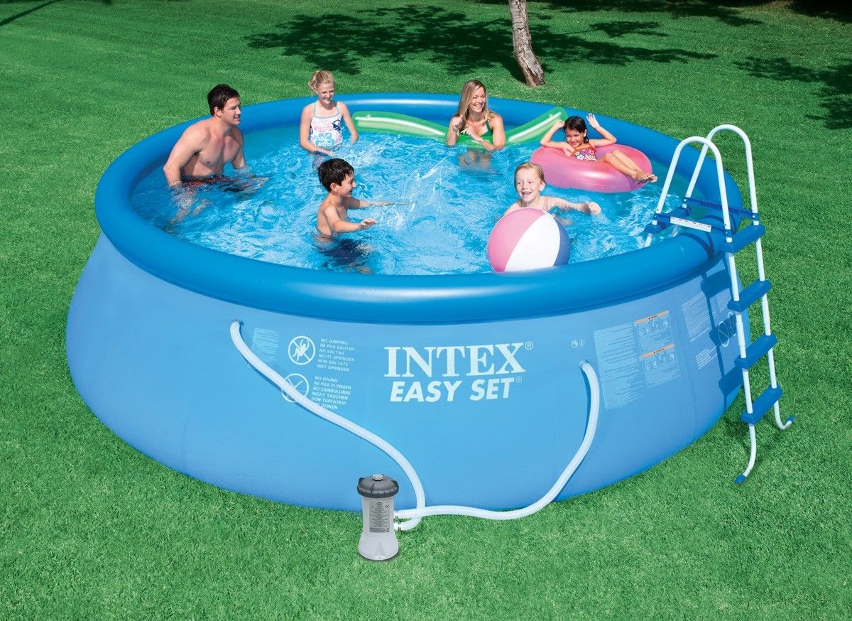 intex 15 x 48 easy set above ground swimming pool w 1000 gph gfci pump 28167eh ebay. Black Bedroom Furniture Sets. Home Design Ideas