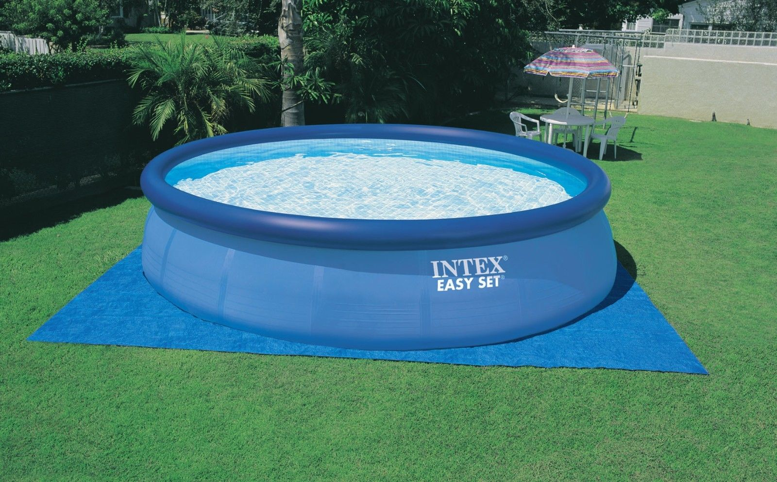 Intex 15 x 48 Easy Set Above Ground Swimming Pool w/ 1000 GPH GFCI ...