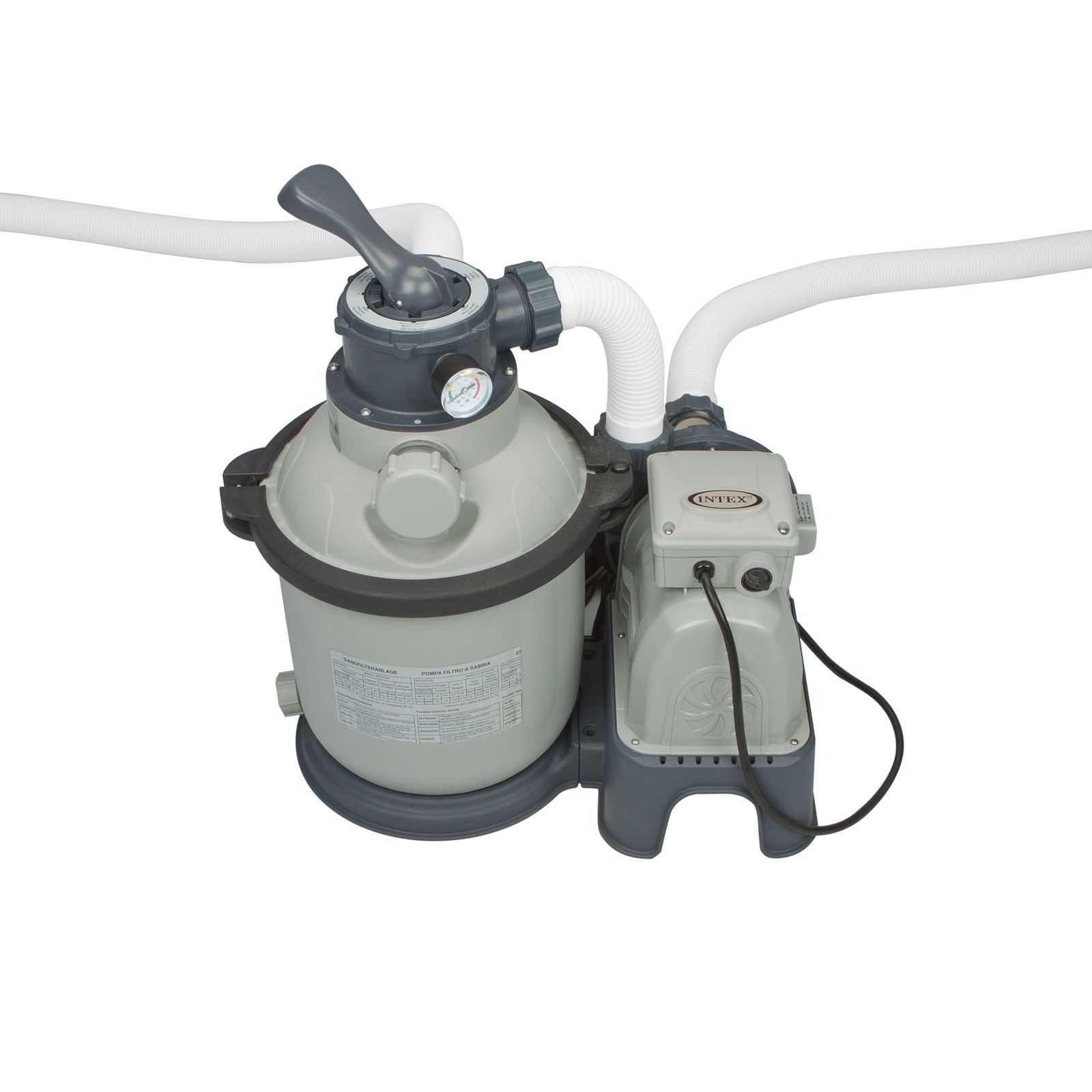 Intex 1200 Gph Krystal Clear Above Ground Pool Sand Filter Pump Set 28643eg 10078257306487 Ebay