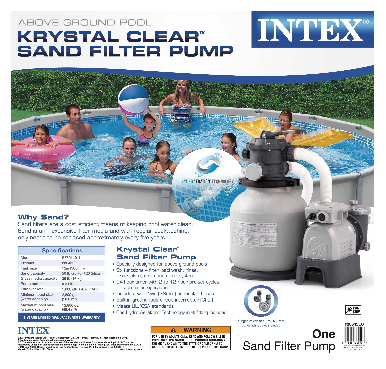 Intex Krystal Clear 2100 Gph Above Ground Easy Set Pool Sand Filter