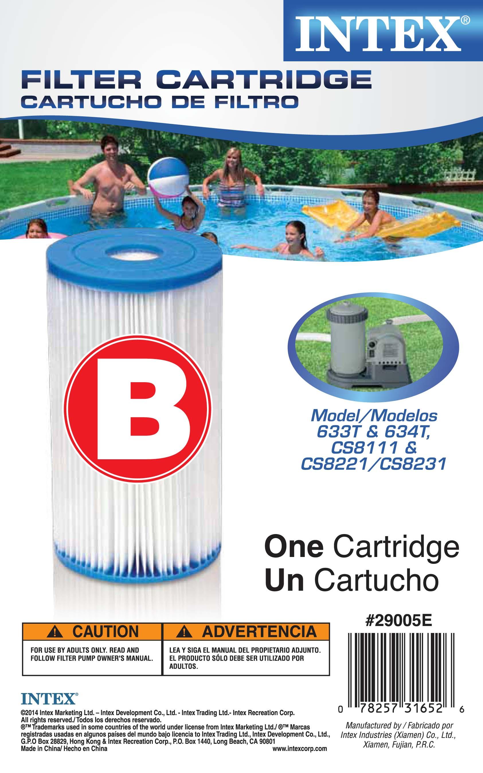 Intex Swimming Pool Type B Filter Cartridge 29005e Case Of