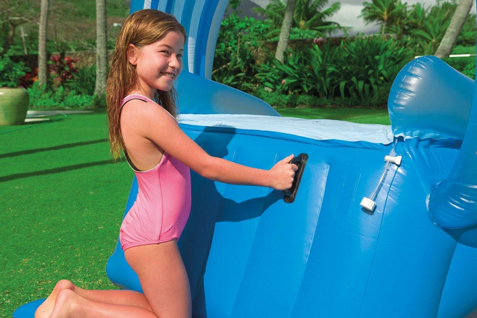 Intex Surf N Slide Inflatable Kids Water Slide Play Center