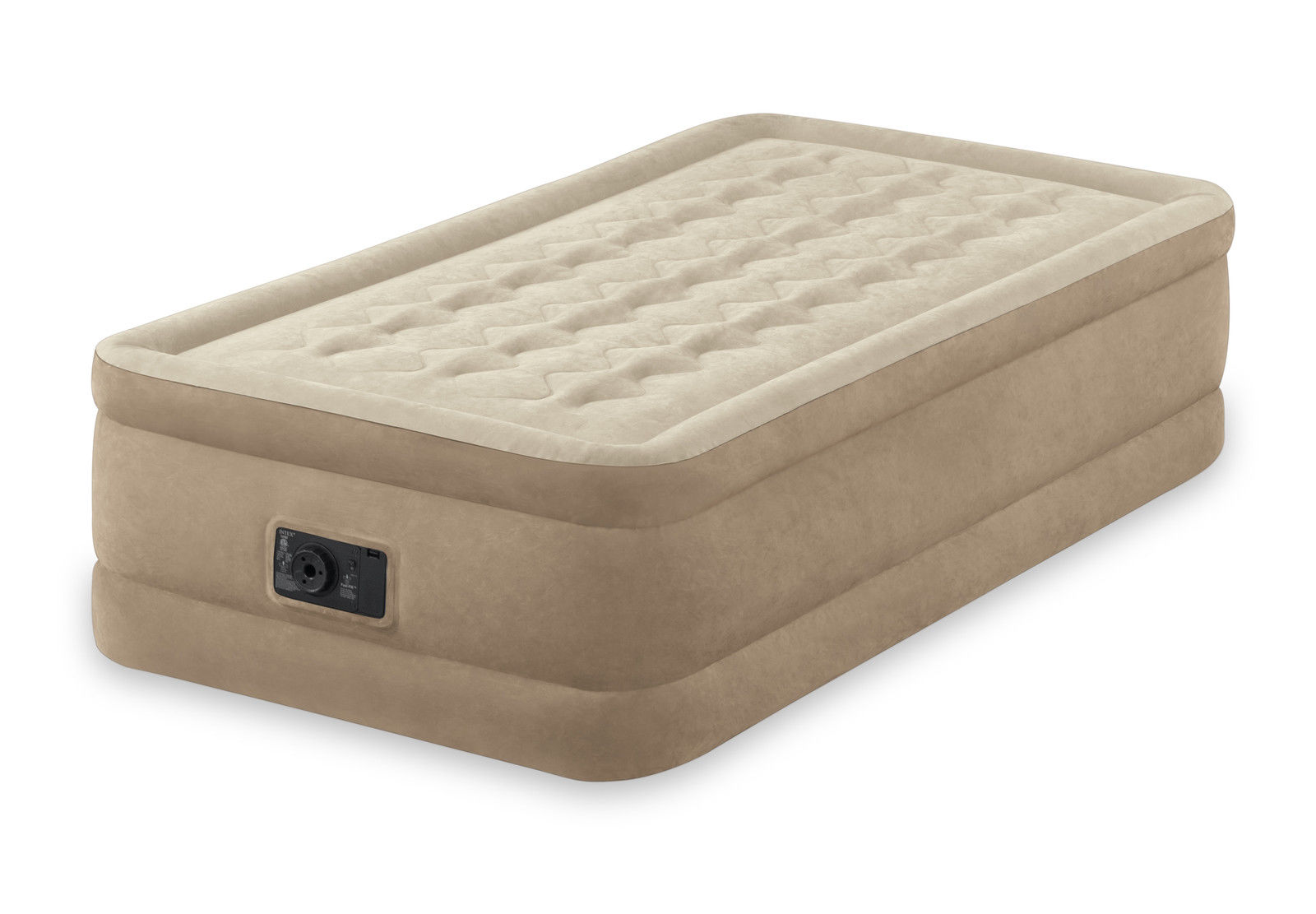 Intex Twin Ultra Plush Fiber Tech Raised Air Mattress With