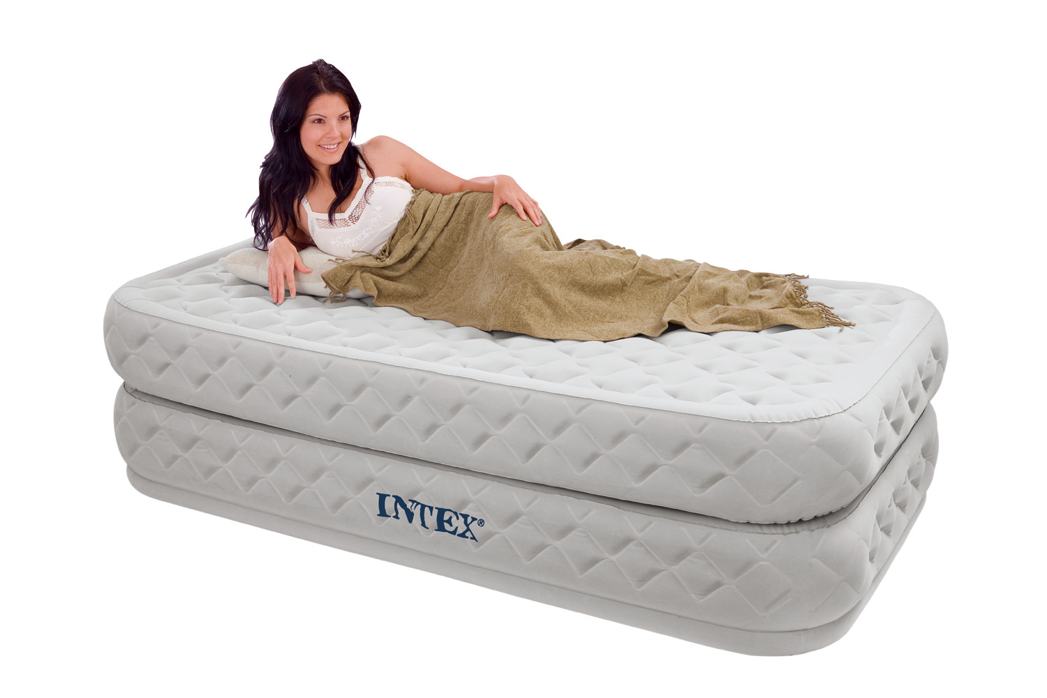 Intex Twin Supreme Air Flow Bed Raised Airbed Mattress W