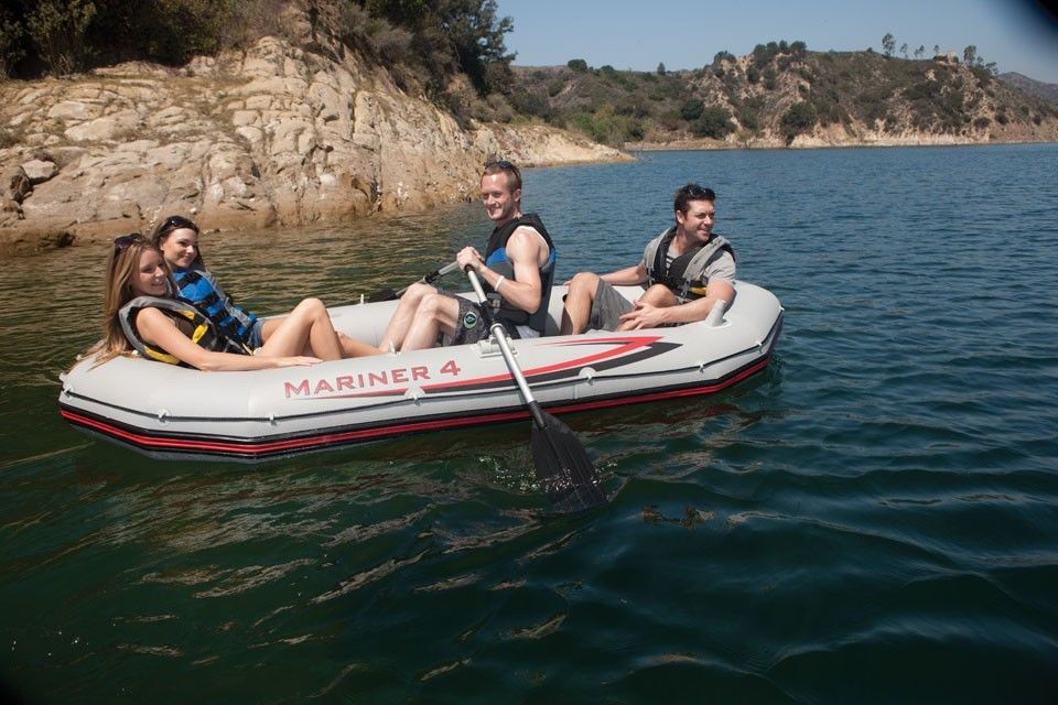 Intex Mariner 4 Inflatable Raft River Lake Dinghy Boat